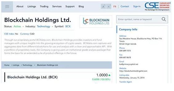et40313142001481 - 为区块链企业提供上市的交易所-加拿大证券交易所(CSE)-海外上市